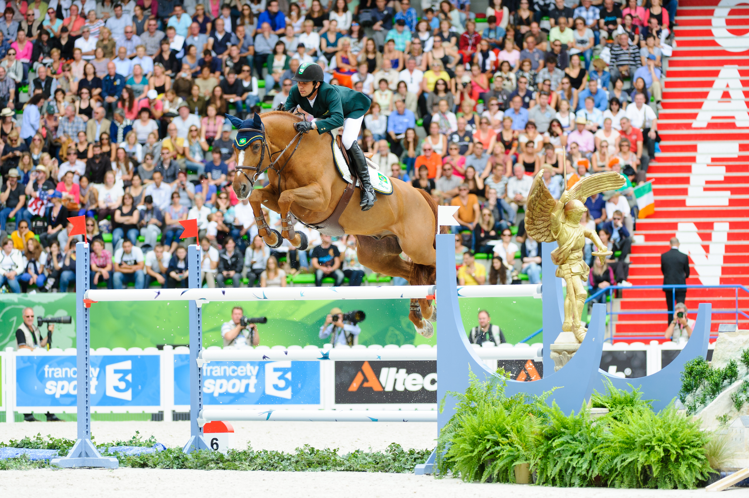 MODOLO ZANOTELLI, Marlon, (BRA), AD Clouwni during Showjumping 1,50 class at Alltech World Equestrian Games at Stade Michel D' Ornano, Caen - France